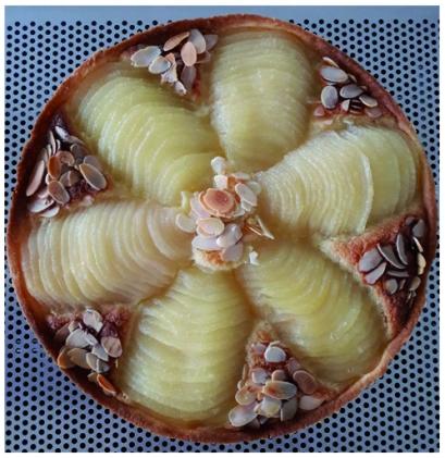 La Tarte aux poires Bourdaloue après cuisson