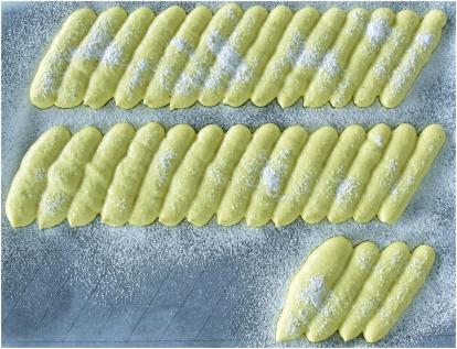Charlotte framboises biscuit cuiller cartouchière