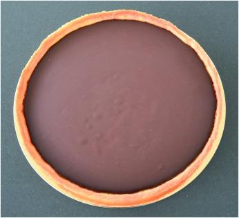 Tarte chocolat nougatine ganache froide