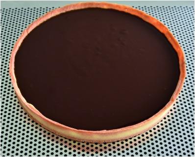 Tarte chocolat nougatine ganache