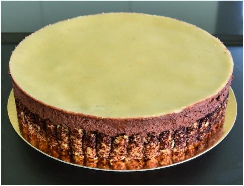 Parfait chocolat poires montage disque pâte d'amande2
